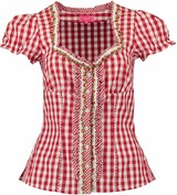 KR�GER DIRNDL Bluse Activity rot