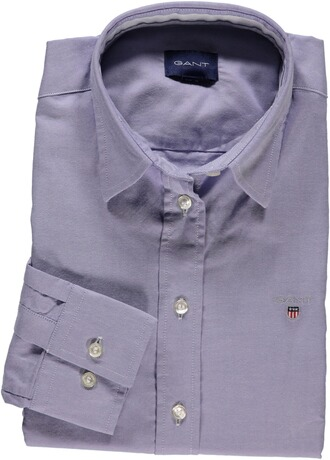 GANT Stretch Oxford Bluse light blue