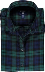GANT Tech Prep Flanell Bluse june/bug/green