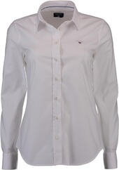 GANT Stretch Oxford Bluse weiss