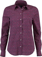 GANT Florale Stretch Bluse raspberry red