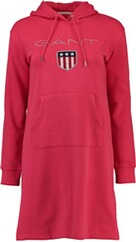 GANT Hoodiekleid watermelon red