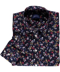 GANT florale stretch Bluse evening blue