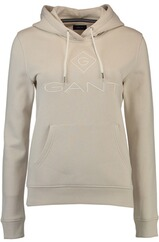 GANT Logo Sweat Hoodie putty
