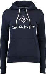 GANT Logo Sweat Hoodie evening blue