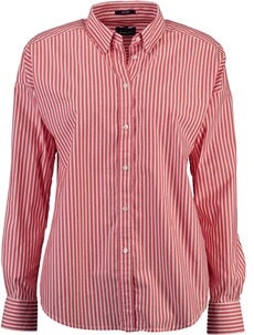 GANT Oversized Tech Prep gestreifte Broadcloth Bluse blood orange