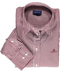 GANT Broadcloth-Banker-Bluse mahogny red