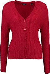 Gant Ribbed Woolblend Cardigan red