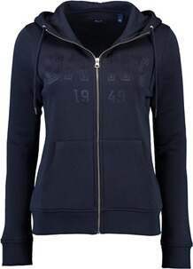 Gant Full Zip Hoodie evening blue