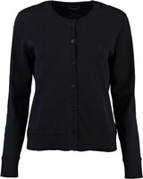 GANT Light Cotton Crew Cardigan Evening Blue