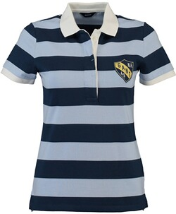 GANT Polo-Shirt Summer Stripe Rugger Hamptons Blue