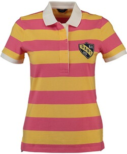 GANT Polo-Shirt Summer Stripe Rugger Rapture Rose