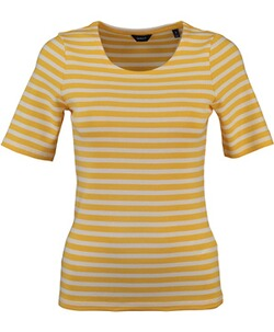 GANT Striped 1x1 Rib T-Shirt Mimosa Yellow
