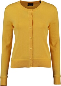 GANT Light Cotton Crew Cardigan Mimisa Yellow