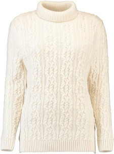 BARBOUR Rollkragen-Pullover Burne Cream
