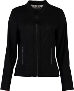 JUST WHITE Wildlederjacke schwarz