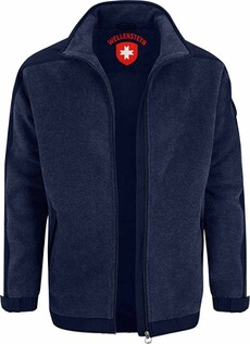 WELLENSTEYN Jet-Fleece-Jacke dunkelblau