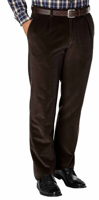 EUREX BY BRAX Stretch-Genua-Cord-Hose braun