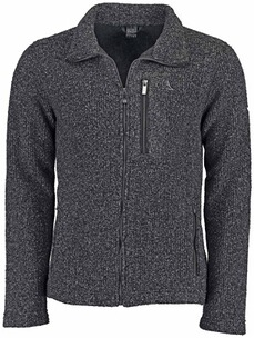 SCHOEFFEL Fleece-Jacke Lucas in Strickoptik anthrazit