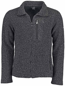 SCHOEFFEL Fleece-Jacke Lucas in Strickoptik blau