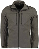 WELLENSTEYN Alpinieri-Softshell-Jacke saltpepper