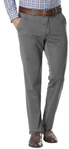 CLUB OF COMFORT Flat Front High Stretch Hose grau