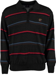 DAVID WILYMS Polo-Pullover gestreift