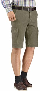 CLUB OF COMFORT High Stretch Cargo Bermuda khaki
