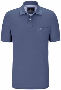 FYNCH HATTON Polo-Shirt rauchblau