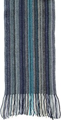 WILLIAM LOCKIE Lambswool Schal blau