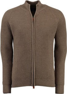 WILLIAM LOCKIE Merino Strickjacke braun