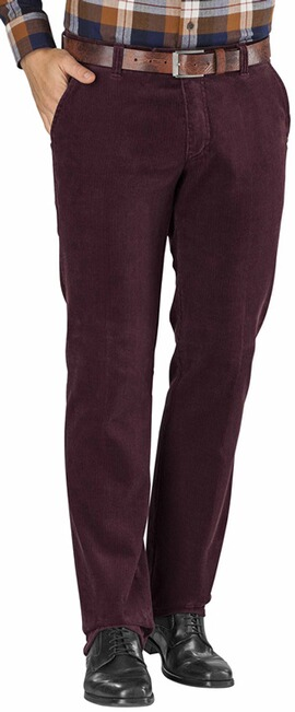 CLUB OF COMFORT Feincord Hose bordeaux