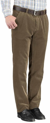 CLUB OF COMFORT Feincord-Thermo-Hose beige