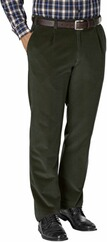EUREX BY BRAX Stretch-Genua-Cord-Hose oliv