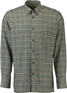 SKOGEN Hemd Button Down oliv kariert