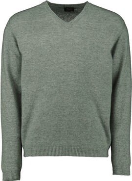 WILLIAM LOCKIE V-Ausschnitt Pullover grün