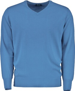 WILLIAM LOCKIE V-Pullover blau