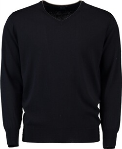 WILLIAM LOCKIE V-Pullover marine