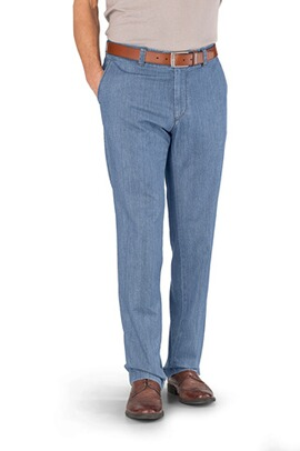 EUREX BY BRAX Flat Front Jeans Jim hellblau Pima Light Denim