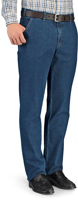 CLUB OF COMFORT High Stretch Baumwollhose blau