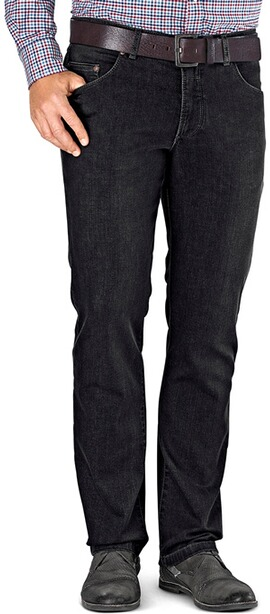 EUREX BY BRAX Stretch-Jeans Luke schwarz Flex-Denim