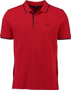 Herren Polo Shirt PIERRE CARDIN Polo-Shirt rot