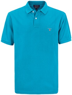 Herren Polo Shirt GANT Polo Shirt aqua