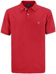 Herren Polo Shirt GANT Polo Shirt rot