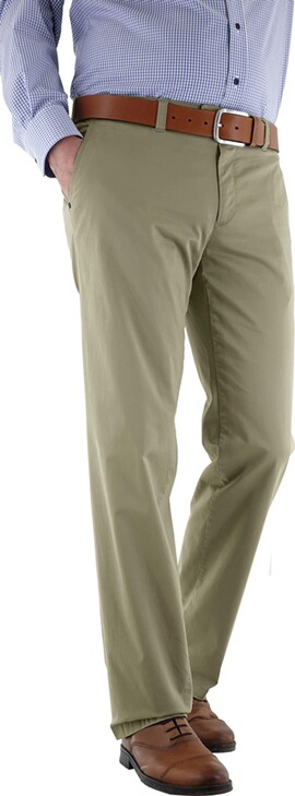 EUREX BY BRAX Baumwoll-Stretch-Hose khaki in Chino-Form