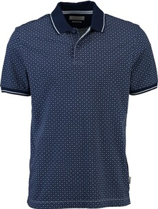 Herren Polo Shirt BUGATTI Polo-Shirt blau