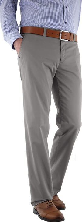 EUREX BY BRAX Baumwoll-Stretch-Hose grau in Chino-Form Tiefbund