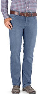 EUREX BY BRAX Tiefbund Five-Pocket Jeans Coolmax hellblau
