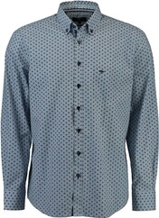 FYNCH HATTON Muster-Hemd Button Down rot