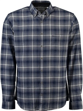 BRAX Karo-Flanell-Hemd Button-Down Modern Fit blau
